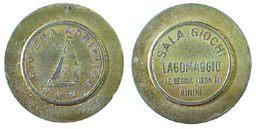 04959 GETTONE TOKEN JETON SALA GIOCHI LAGOMAGGIO LA REGINA ELENA 141 RIMINI - Casino