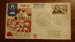 Premier Jour  FDC..  JOURNEE  DU  TIMBRE .. 1956 .. PARIS .. Relais De Poste - Other