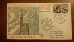 Premier Jour  FDC..  PORT  DE  STRASBOURG .. 1956 - FDC