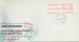 1981 , HOLANDA , SOBRE DE PRIMER DIA , SSV , AMSTERDAM - Marcofilia - EMA ( Maquina De Huellas A Franquear)