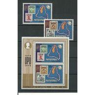 AITUTAKI (COOK ISLANDS), 1974 UPU Centenary S/s + 2v MNH - U.P.U.