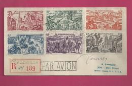 Lettre Recommandée De 1947 Pour Les EUAN - YT N° PA 44 à 49 - Série Complète Du Tchad Au Rhin - Signature De Decaris - Storia Postale