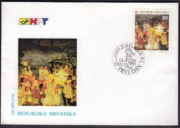 Croatia Zagreb 1992 / Christmas / Art, Painting / FDC - Croatie
