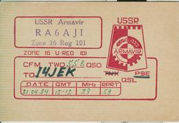 RUSSIA - Armavir (Russian: Армави́р) - RADIO AMATORIALE- 21/04/1984 - - Radio Amatoriale