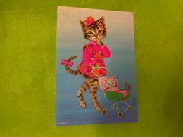 Carte Postale Chat Deguise -illustrateur L Dobon - Pin-Ups