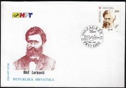 Croatia Zagreb 1992 / Blaz Lorkovic / Economist, Lawyer, Cultural And Political Activist / FDC - Croatie