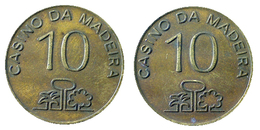 03045 GETTONE TOKEN JETON CASINO DA MADEIRA 10 - Casino