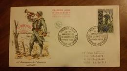 Premier Jour  FDC..    40° ANNIVERSAIRE DE  L'ARMISTICE .. 1958 ..COMPIEGNE RETHONDES - FDC