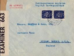 PORTUGAL , LISBOA - LONDON , CORREO AÉREO , BANDA DE CIERRE DE CENSURA - 1910-... República