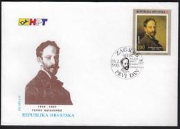 Croatia Zagreb 1993 / Ferdo Quiquerez / Croatian Painter Of French Ancestry / FDC - Croatie