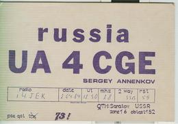 RUSSIA - Saratov ( Саратов) - RADIO AMATORIALE- 2/04/1984 - - Radio Amateur