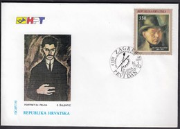 Croatia Zagreb 1993 / Zlatko Sulentic / Croatian Painter / FDC - Croatie