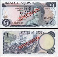 Jersey 1 Pound 1976 AUNC Specimen Р-11s - Jersey