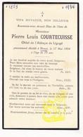 DP Im. Mort. - Oblat Abbaye Saint-Martin De Ligugé FR Vienne - Pierre Louis Courtecuisse ° 1859 † Douai FR Nord 1934 - Images Religieuses