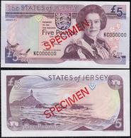 Jersey 5 Pounds 2000 UNC Specimen - Jersey