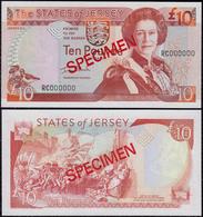 Jersey 10 Pounds 2000 UNC Specimen - Jersey