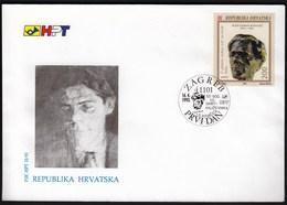 Croatia Zagreb 1993 / Ivan Goran Kovacic / Croatian Writer / FDC - Croatie