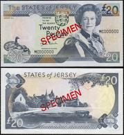 Jersey 20 Pounds 2000 UNC Specimen - Jersey