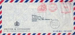 1971 , CURAÇAO , SOBRE CIRCULADO , FRANQUEO MECÁNICO , SPRITZER & FUHRMANN , WILLEMSTAD - Curazao, Antillas Holandesas, Aruba