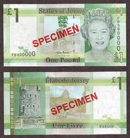 Jersey 1 Pound 2010 UNC Specimen - Jersey