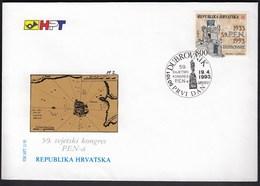 Croatia Dubrovnik 1993 / PEN Congress / World Association Of Writers / FDC - Croatie