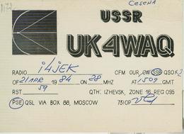 RUSSIA-MOSCOW-RADIO AMATORIALE- 21 APRILE 1984 - - Radio Amatoriale