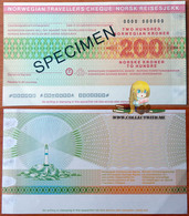 Norway 200 Kroner Specimen AUNC - Norvège