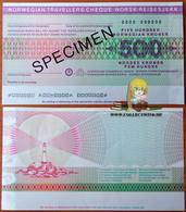 Norway 500 Kroner Specimen AUNC - Noruega