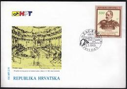 Croatia Zagreb 1993 / 150 Years Of Speech On Croatian Language In Parliament 1843 Of I. Kukuljevic / FDC - Croatie