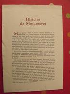 Histoire De Montsecret. Révolution. Livret Du Spectacle. Vers 1980 ? - Pays De Loire