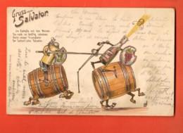 TRZ-27 Litho Gruss Vom Salvator Salvatorkeller Am Nockherberg.Gelaufen In 1899 Nach Schweiz - Muenchen