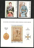 Poland,  Scott 2018 # 3090-3092,  Issued 1992,  Set Of 2 + S/S Of 2,  MNH,  Cat $ 3.75, Military - 1944-.... Republic