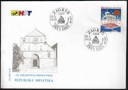 Croatia Zagreb 1993 / 550 Anniversary Of Croatian Town Pag / Monument / FDC - Croatie