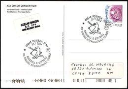 ITALIA POMEZIA (RM) 2004 - 19° RADUNO INTERNAZIONALE ALLENATORI BASEBALL E SOFTBALL - CARTOLINA UFFICIALE VIAGGIATA - Baseball