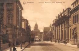 BRUXELLES - Rue De La Régence Et Palais Des Beaux Arts - Avenues, Boulevards