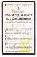 DP Im. Mort. FR Nord - Rose Sophie Castelyn ° Houtkerque 1855 † Winnezeele 1909 X Victor VanWaetermeulen - Images Religieuses