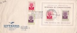LUFTHANSA LINEAS AEREAS ALEMANAS. AÑO DEL REFUJIADO, PRIMER VUELO BUENOS AIRES A FRACFORT AÑO 1960 JET 720 B - BLEUP - Aéreo
