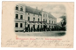 Görbersdorf In Schlesien, Hotel Deutscher Kaiser, Alte Ansichtskarte 1899, Sokolowsko - Pologne