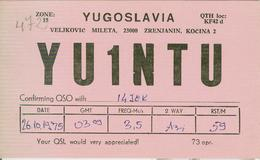 YUGOSLAVIA -Zrenjanin ( Зрењанин) - RADIO AMATORIALE- 26 OTTOBRE 1975 - - Radio Amatoriale