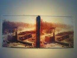 Plaque En Verre Positif , Guerre 14/18 - CAVALERIE MONTANT VERS NAMPCEL - Plaques De Verre