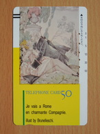 Japon Japan Free Front Bar, Balken Phonecard / 110-9686 / Painture By Brunelleschi - Personnages