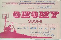 FINLANDIA - Kangasala - RADIO AMATORIALE- 16 GENNAIO 1983 - - Radio Amateur