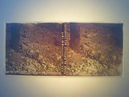 Plaque En Verre Positif , Guerre 14/18 - CHAMP DE BATAILLE DES CAURIERES - Plaques De Verre