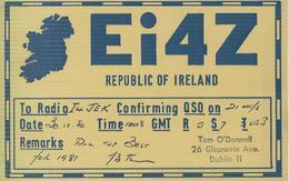 IRLANDA - DUBLINO -  - RADIO AMATORIALE- 16 GENNAIO 1983 - - Radio Amatoriale