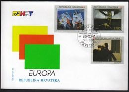 Croatia Zagreb 1993 / Europa CEPT / Modern Art / Paintings / FDC - Croatia