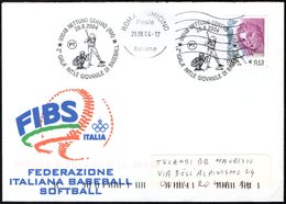 ITALIA NETTUNO (RM) 2004 - 2° GALA' INTERNAZIONALE GIOVANILE DI BASEBALL - BUSTA FIBS VIAGGIATA - Baseball