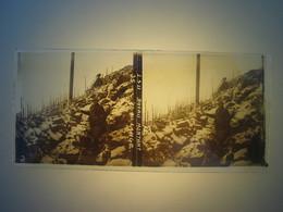Plaque En Verre Positif , Guerre 14/18 - BOYAU MONTANT AU LINGE - Plaques De Verre