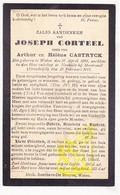 DP Burgerslachtoffer WO I Victime Guerre 14-18 J. Corteel / Castryck ° Watou BE † Neuville S Montreuil FR Pas De Calais - Images Religieuses