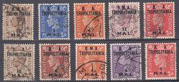 TRIPOLITANIA - OCCUPAZIONE Civile E Militare Britannica - Lotto Di 10 Valori Diversi  Assortiti, Come Da Immagine. - Africa Del Sud-Ovest (1923-1990)