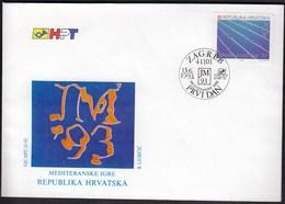 Croatia Zagreb 1993 / Mediterranean Games / Sport / Swimming / FDC - Croatie